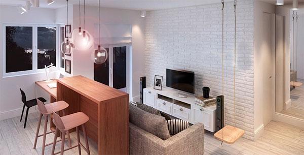 Подвесные качели в интерьере квартиры