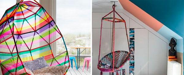 Плетеные цветные сиденья