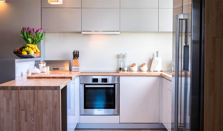 Эргономика интерьера маленькой кухни