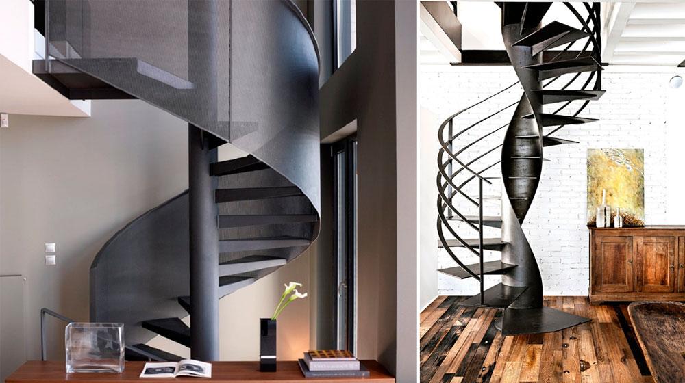 Лестницы металлические на второй этаж – фото