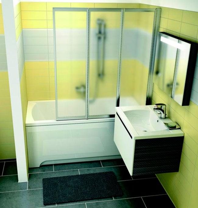 фото, как поставить ванну в маленькой ванной комнате