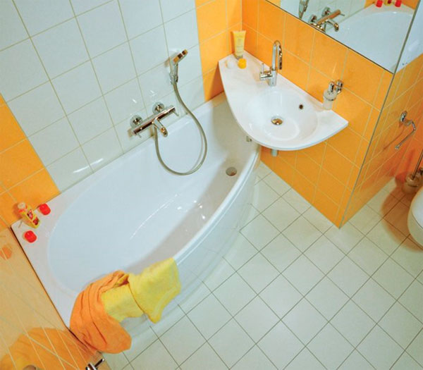 ванны Авокадо с раковиной