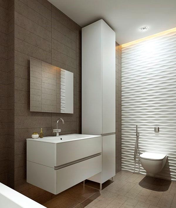 Пластиковые панели 3D для ванной