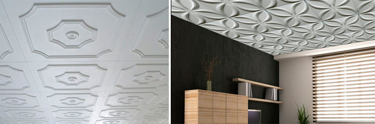 Possibilities of ceiling panels for interior decoration