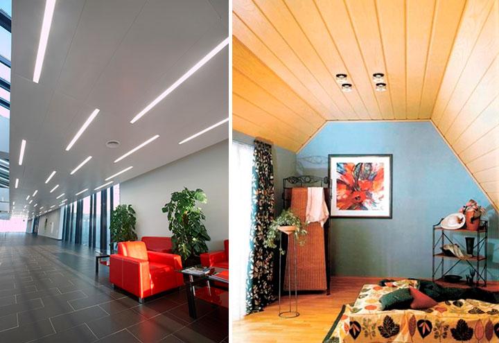 Потолочные панели для внутренней отделки – фото