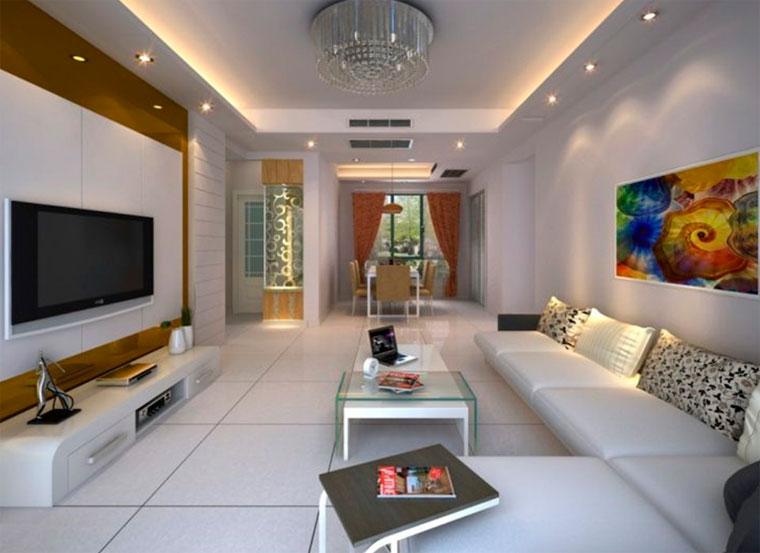 Фото потолков в частных домах