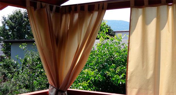 Шторы для террасы и веранды из ткани