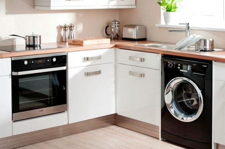 Эргономика кухни со встроенной машинкой