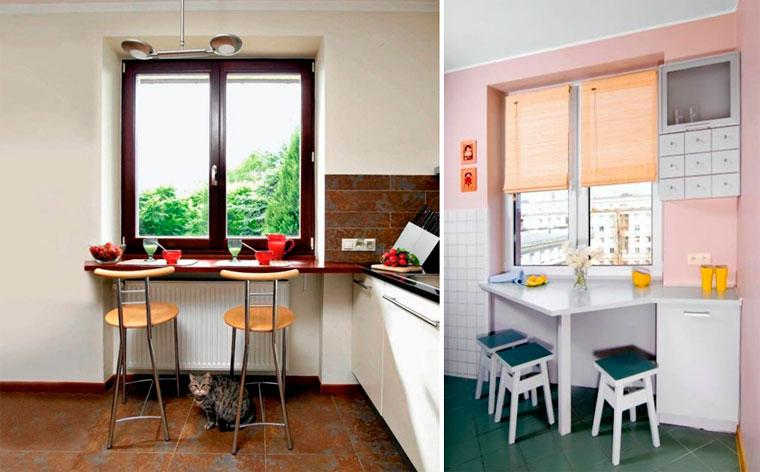 подоконник столешница для маленькой кухни фото