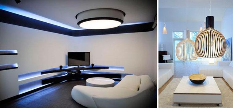 Светильники и потолочные люстры хай-тек