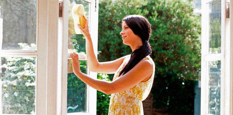 лучшее время для мойки окон – это теплое весеннее или летнее утро