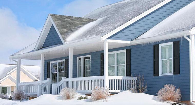 каркасный дом в холодном климате