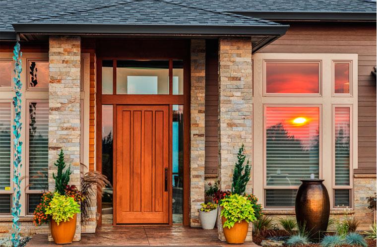 Размеры входной двери в дом
