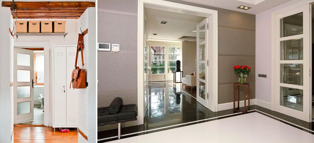Цвет дверей и пола в интерьере, фото