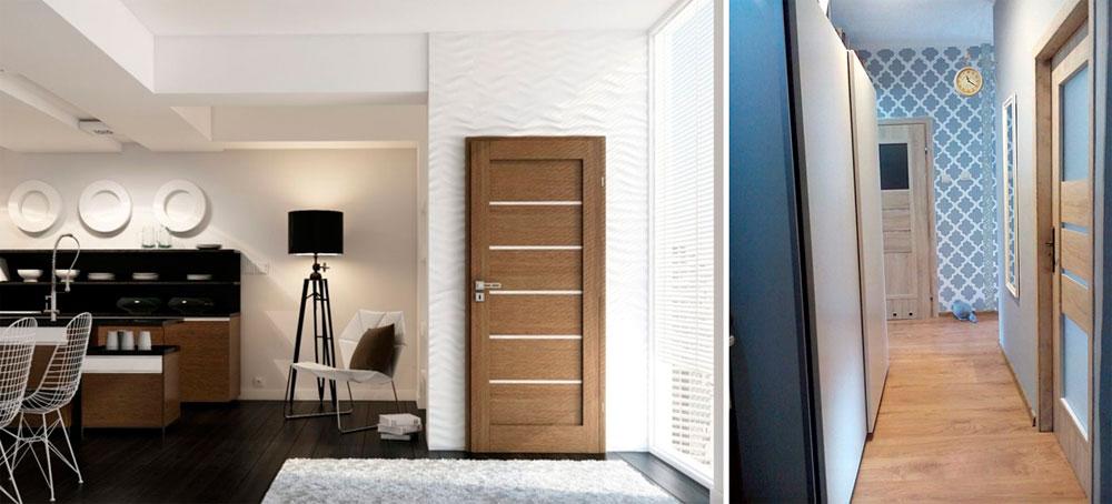 С каким полом сочетаются деревянные двери?