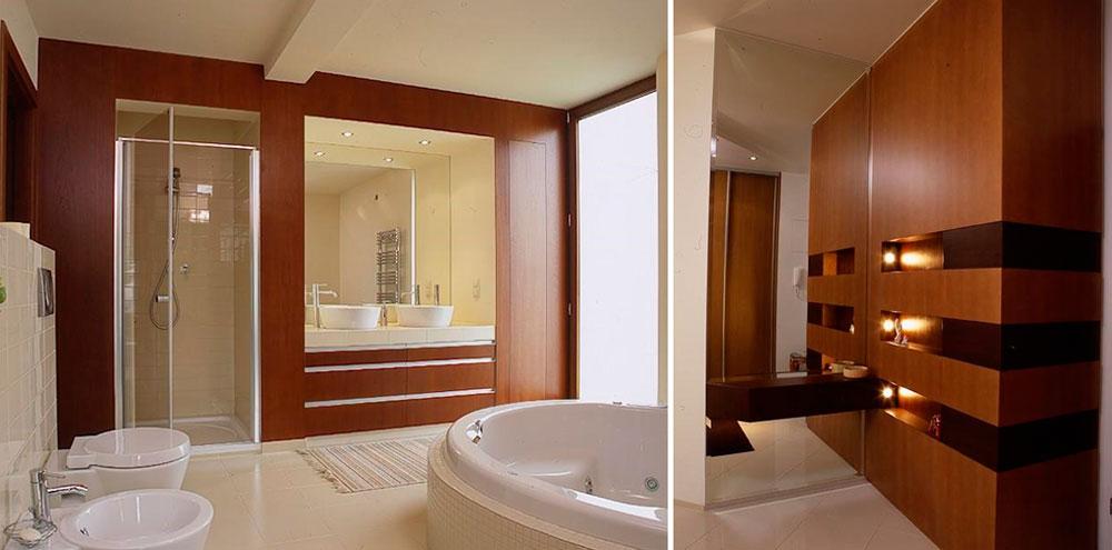 Как красиво оформить нишу в ванной комнате