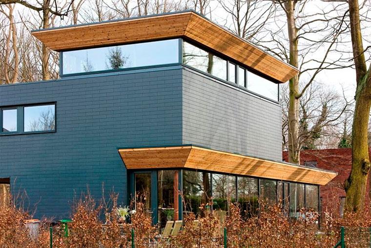 Fiber cement facade panels