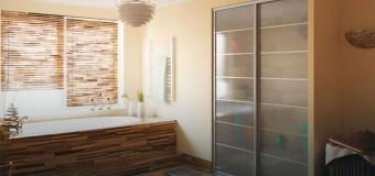 Встроенный шкаф в ванную комнату