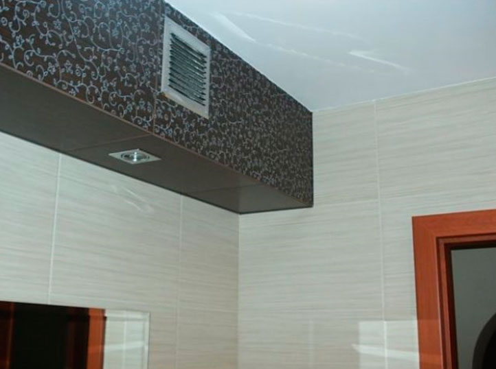 The ventilation grille should be close to the ceiling.