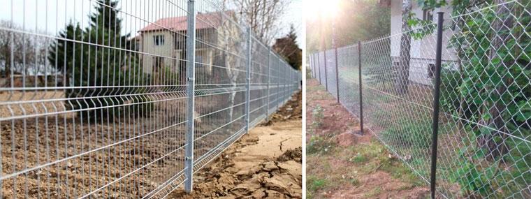 Забор из сетки и сетки-рабицы