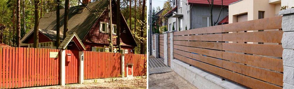 Варианты деревянных заборов для частного дома, фото