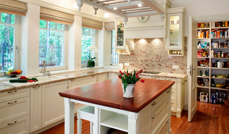 Кухня в английском стиле – интерьер, фото