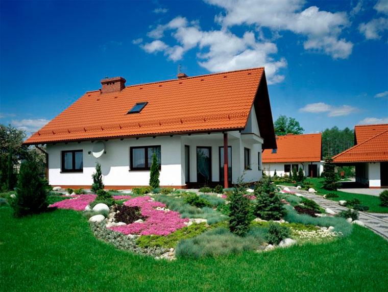 традиционная красная крыша