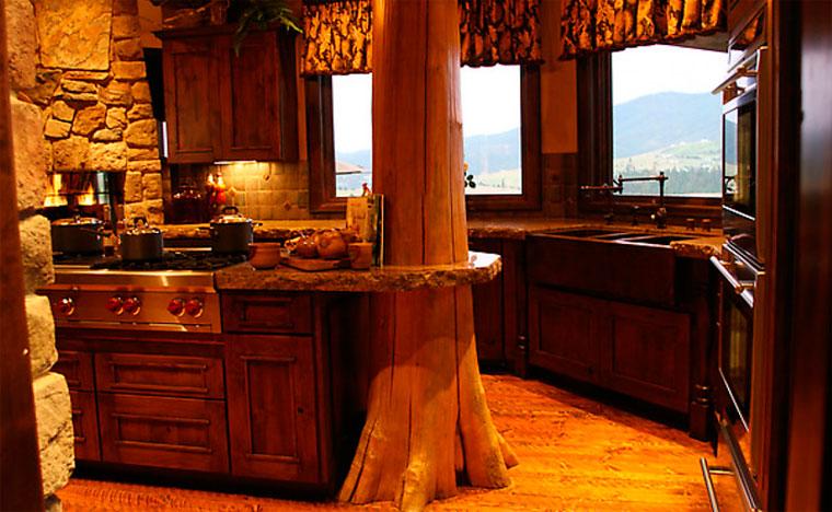 Интерьер дома в деревенском стиле – фото