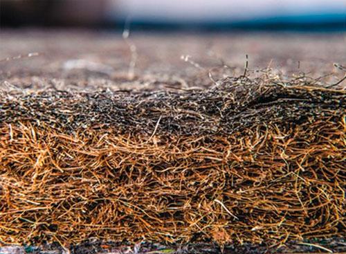 конский волос, который используется, как дополнение к кокосовому мату