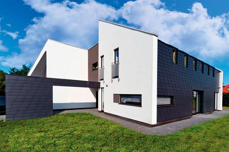 Облицовка фасада дома фиброцементными плитами – фото