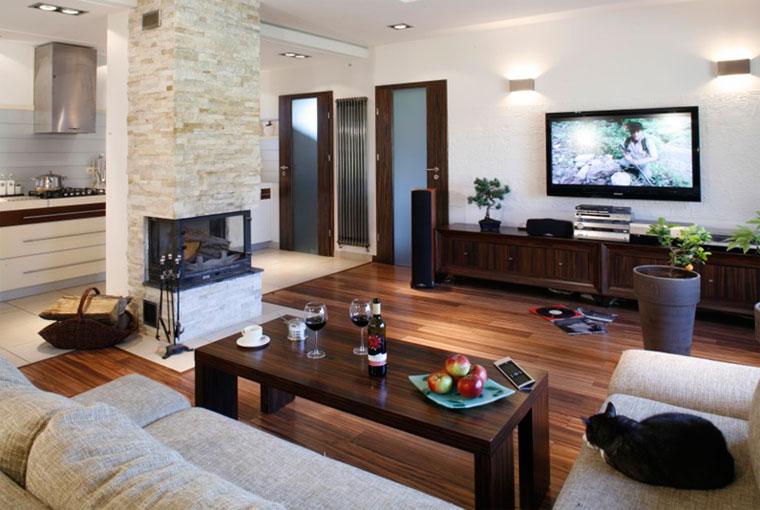 Где расположить камин в гостиной – в середине или в углу?