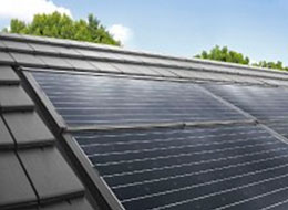 Крыша со встроенной солнечной батареей