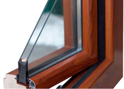 Фото. Деревянно-алюминиевый стеклопакет