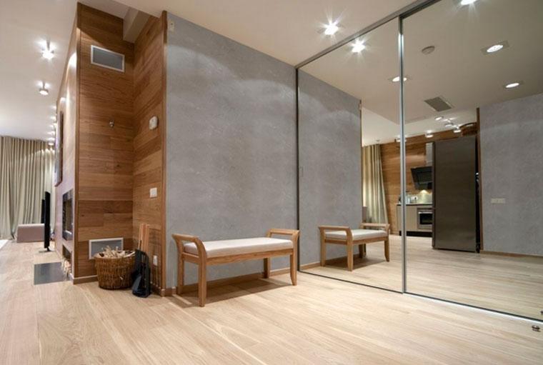 Модное сочетание – бетон и дерево