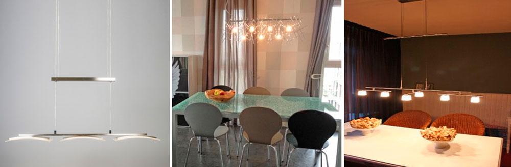 Длинные люстры для кухни в современном стиле – фото