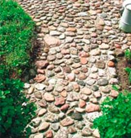 Каменные дорожки на участке своими руками