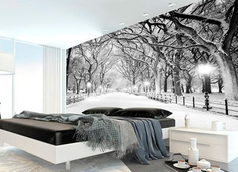 Фотообои на стену в спальню с мотивами природы