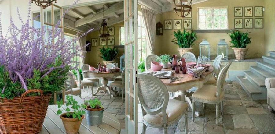 Стиль кантри в интерьере дачного дома – фото