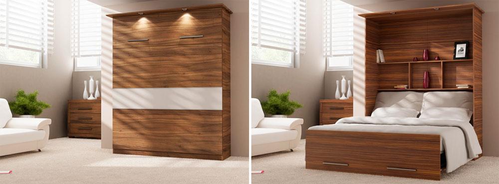 Кровати, встроенные в стену или шкаф – фото