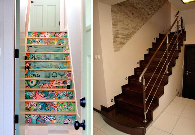 Прямой вид лестницы на второй этаж – фото