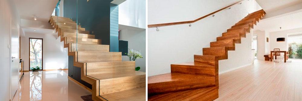 Безопорные виды деревянных лестниц на второй этаж – фото
