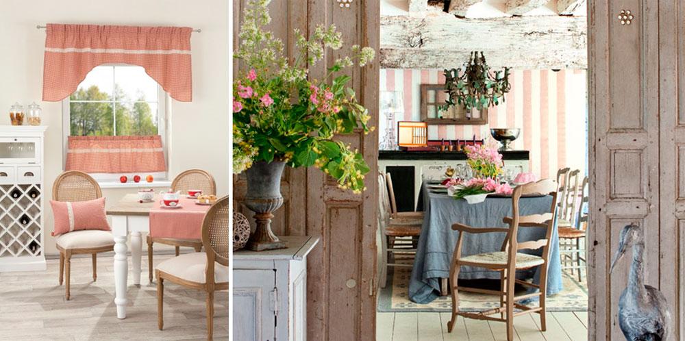 Интерьер кухни загородного дома в стиле прованс