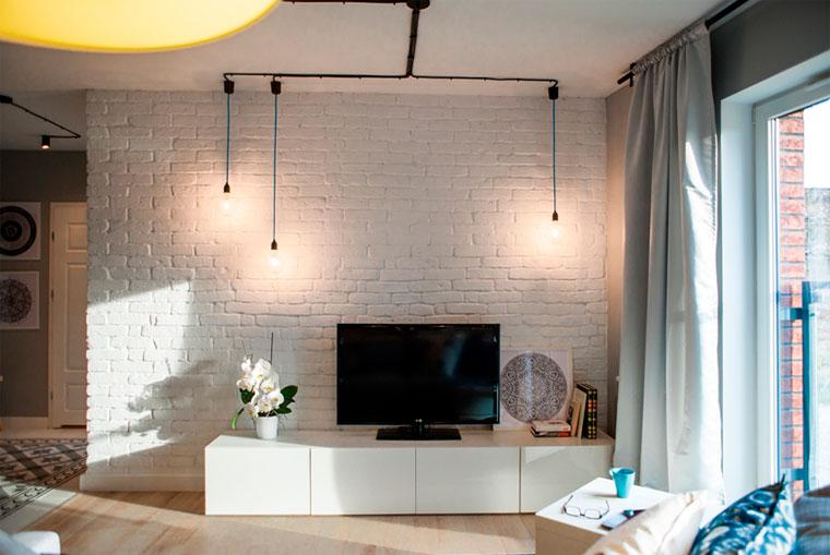 интерьер с телевизором