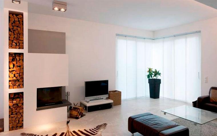 Телевизор на стене в интерьере – фото