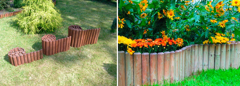 Рольбордер или декоративный заборчик клумб – фото