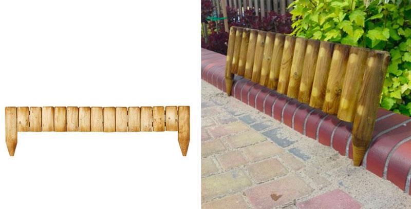 Деревянный декоративный заборчик для клумб