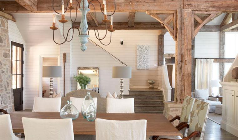 Декоративные балки на потолок в интерьере