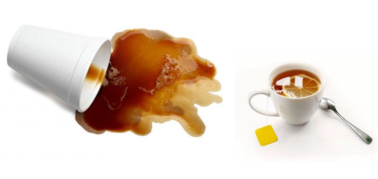 Пятно от чая: чем вывести?