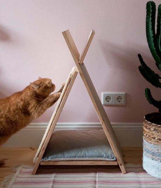 Домик когтеточка для кошки своими руками пошагово
