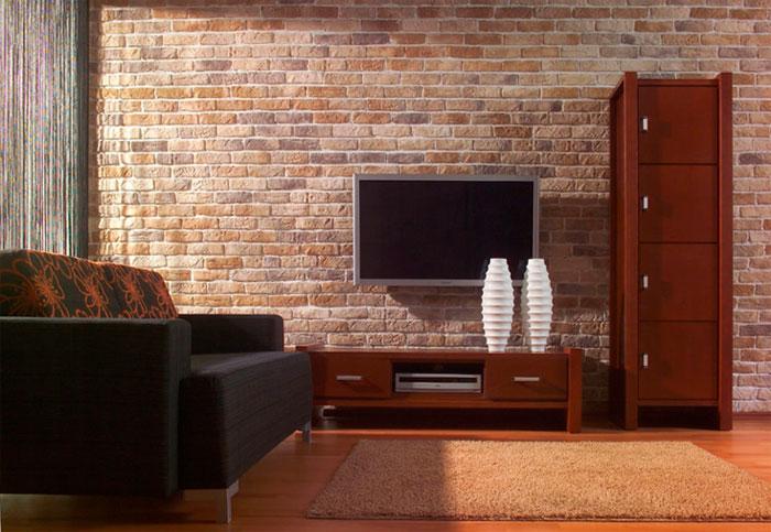 Декоративная отделка стен в квартире под камень керамической плиткой